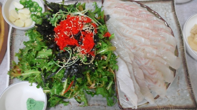 Fresh Sashimi with Salad